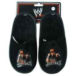 WWE Todler Velvet Slippers featuring John Cena size 7/8 Toddler size COLOR Black -