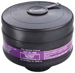 3M 453-00-01R06 Cartridge to Resist Organic Vapors/Dusts/Mists/Fumes/Asbestos/Radionuclides and Radon Daughters, Large, Black