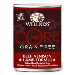 Wellness Core Grain Free Beef, Venison And Lamb Formula Pet Food Can, 12.5-Ounce, Pack Of 12