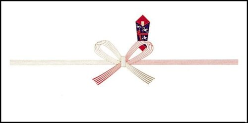 のし紙 一般祝事用 花結び 豆判7号 100枚入