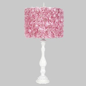 Jubilee Collection 873202-4713 One Light Table Lamp, White Finish with Pink Rose Garden Drum Shade матрас промтекс ориент biba комби эко 9 80x160