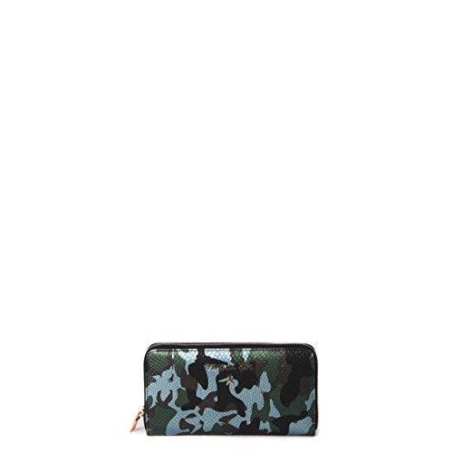 Patrizia Pepe portafoglio grande 2V3692 A2ES X093 stampa camouflage donna verde