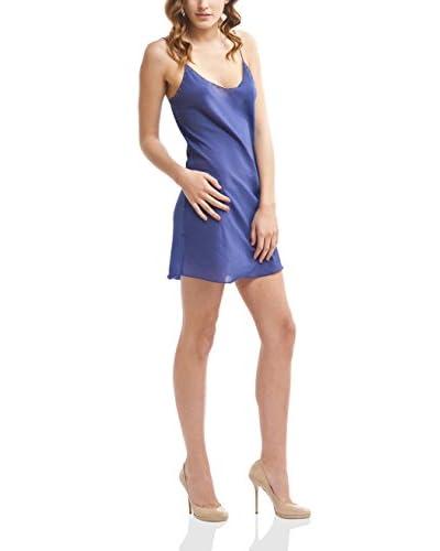 Mine de Rien Vestido Seda Easy Azul S