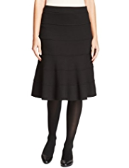 M&S Collection Knee Length Layered Ponte Skirt