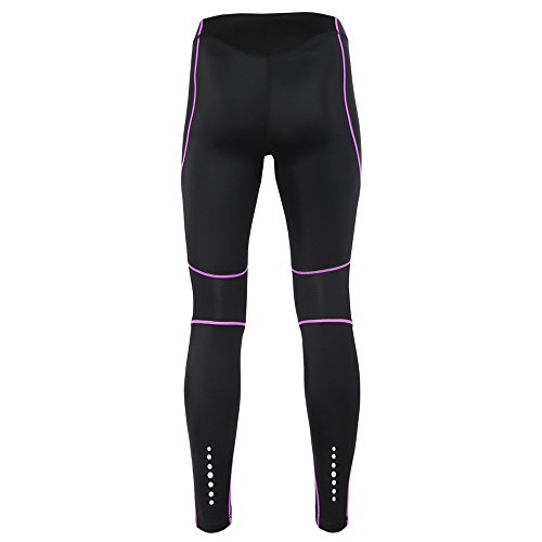 Women Ladies Compression Leggings Tights-Aleader Quick Dry Base layer Sport Fitnss Running Yoga Workout Tights Pants blackpurple M
