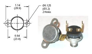 Thermal Switch Can be used with Fireplace Blowers for automatic blower operation # 19-SF2-115