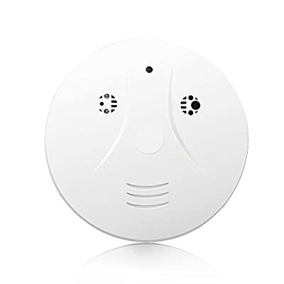 Littleadd Hidden Camera Smoke Detector Spy Hidden Camera, Motion Detection and Remote Control, 8GB Micro SD Card Included, White (Modified Version)