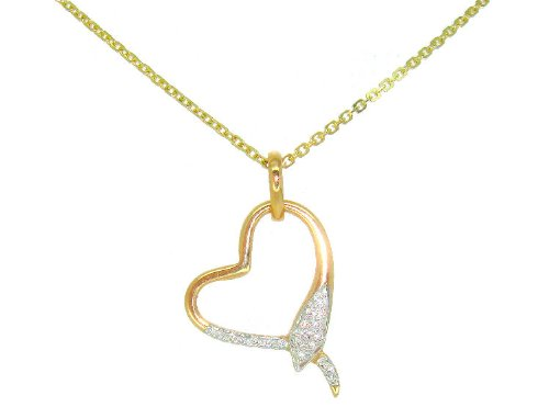 0.10ct Diamond Necklace in 18K Yellow Gold