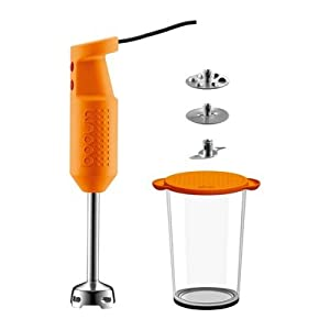 Bodum Bistro Electric Handheld Immersion Stick Blender, Orange