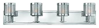 Hinkley FR51014PCM Studio 4 Light Bathroom Lighting in Polished Chrome,