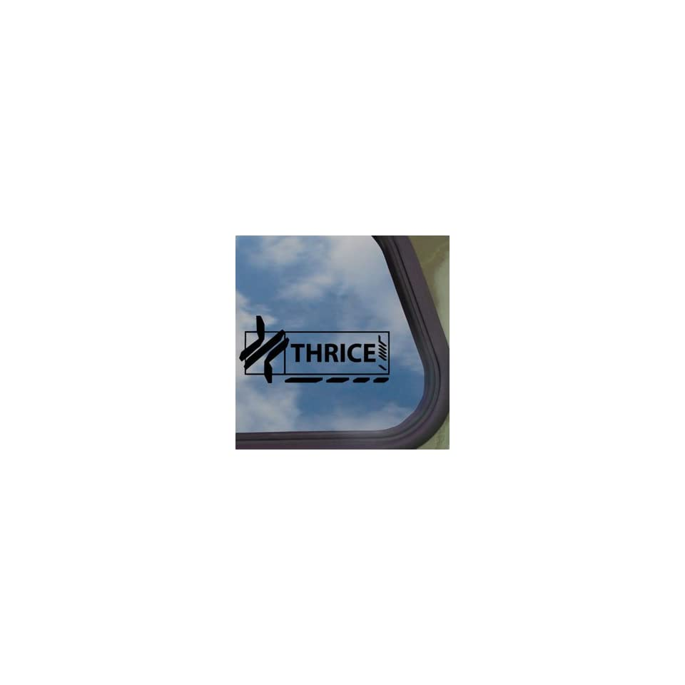 Thrice Black Decal Rock Band Car Truck Bumper Window Sticker