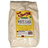 Bob's Red Mill Flour White Unbleached Organic, 5-Pound (Pack of 4)