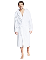 Luxury Cotton Rich Hooded Towelling Dressing Gown