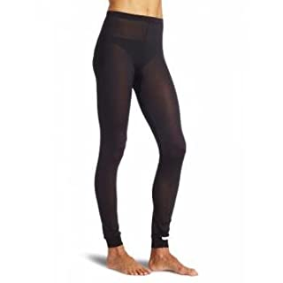 Terramar Women's Thermasilk Pointelle Pant (Black, X-Large)