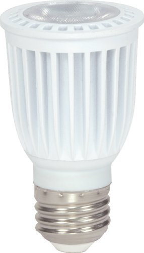 Satco S8997 6 Watt (45 Watt) 370 Lumens Par16 Led Warm White 3000K 40 Beam Pattern Light Bulb, Dimmable
