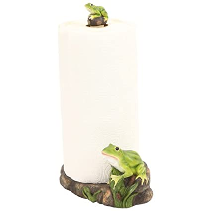Frog Toad Paper Towel Holder Rack, 13 Inch, Kitchen Accent