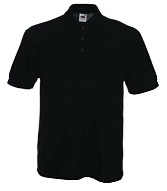 Fruit of the Loom Pocket Polo in Black Size S (SS23)