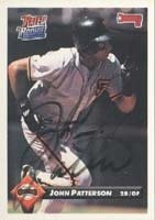 John Patterson San Francisco Giants 1993 Donruss Rated Rookie Autographed Hand Signed... by Hall of Fame Memorabilia