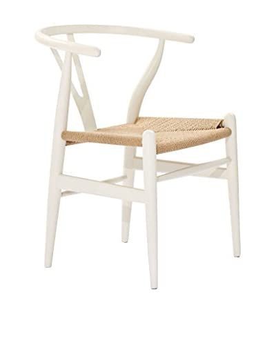 Modway Amish Wooden Dining Arm Chair, White