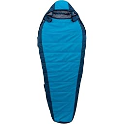 Ozark Trail 0-Degree Adult Thinsulate Size Adjustable Sleeping Bag, Sky Blue/Indigo