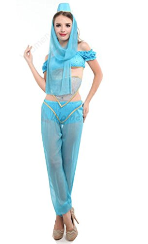 APARCHE Womens Jasmine Aladdin Princess Fancy Dress Belly Dancer Arabian Costume