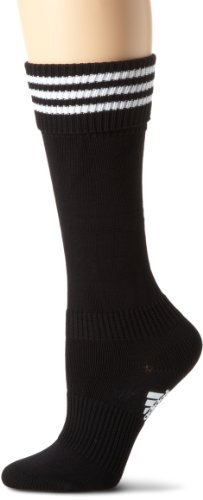 adidas 3-Stripes II Soccer Sock, Black/White, X-Small