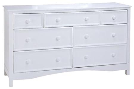 Bolton Furniture 8020500 Wakefield 7 Drawer Dresser, White