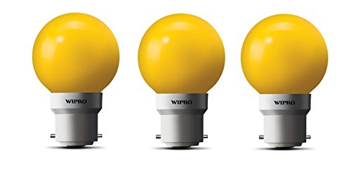 0.5W LED Bulb (Yellow, pack of 3)