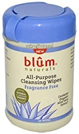 All-Purpose Skin Cleansing Wipes, Fragrance Free, 30 Wipes by Blum Naturals
