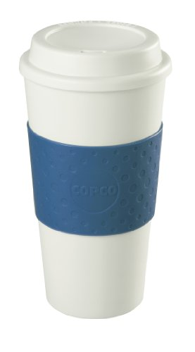 Copco 16-Ounce Capacity Acadia Reusable To Go Mug, Blue (Plastic Cups Microwave Safe compare prices)