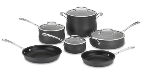 Cuisinart 64-10N Contour Hard Anodized 10-Piece Cookware Set (Pan Set Cuisinart compare prices)