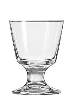 "Embassy Footed Drink Glasses, Rocks, 5.5oz, 4 1/8"" Tall by Libbey"