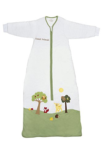 Schlummersack Kids Winter Sleeping Bag Long Sleeves 3.5 Tog - Forest Friends, 3-6 years/51inch - 1