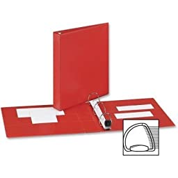 AveryÃ\'® Heavy-Duty Vinyl EZD Ring Reference Binder, 1in Capacity, Red by Avery