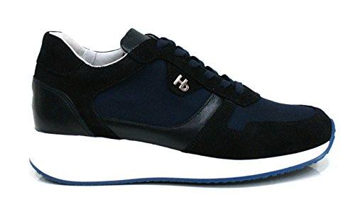 Botticelli Hornet Sneaker Uomo Camoscio Interactive Alta Cm 5 Blu-43
