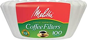 Melitta 629092 100-Count 8-12-Cup Natural Brown Basket Coffee Filters