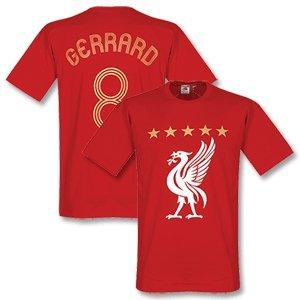 Liverpool Gerrard Euro T-shirt Red-xl by Retake