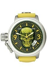 Christian Audigier Eternity Collection Temptation-Yellow Black Dial Unisex watch #ETE-129
