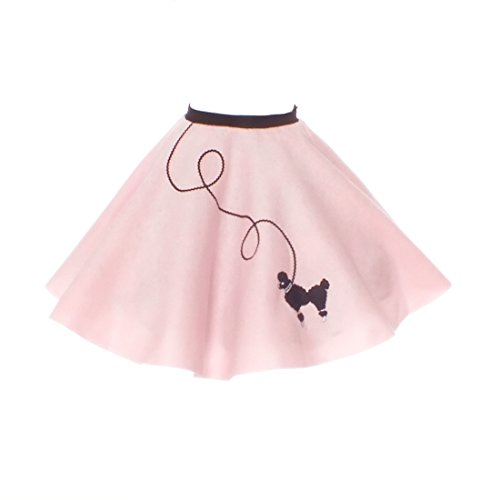 Hip Hop 50S Shop Large Child Poodle Skirt - Size 10,11,12 - Light Pink