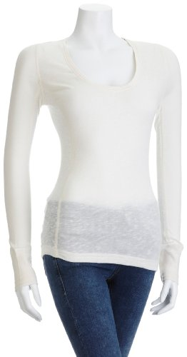 Timberland Women's Aspen Long Sleeve Crew Off-White