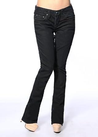 Stitch's Women's Slim Fit Jeans Straight Leg Premium Black 31
