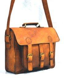 Goatstuff Leather Handmade Vintage Style Messenger Bag/ Laptop Briefcase