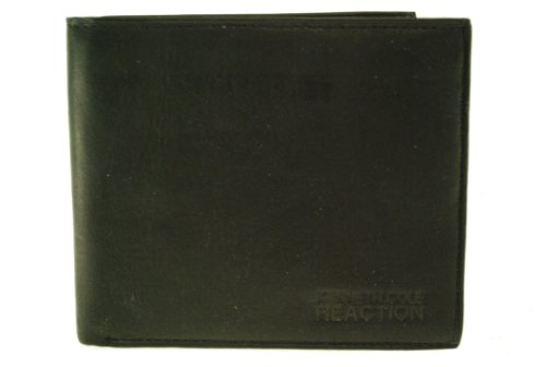 Kenneth Cole Reaction Leather Passcase Wallet (Black)