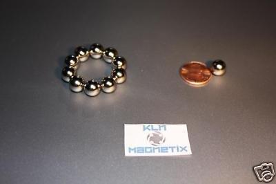 KLN Magnetix 3/8 Inch Ball Neodymium Rare Earth Magnets - Quantity 10 - Nickel Plated - N42 Spheres