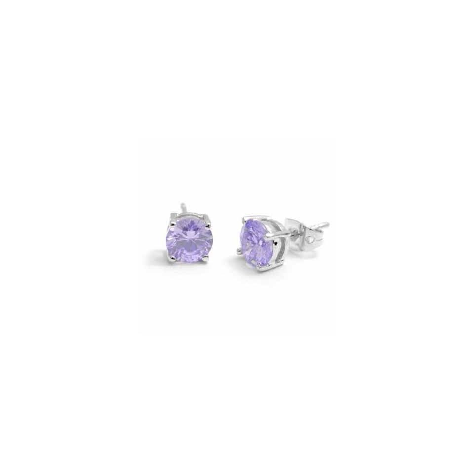 41fe69fb8653d June Lavender Light Purple Diamond Colored Round Basket Studs ...