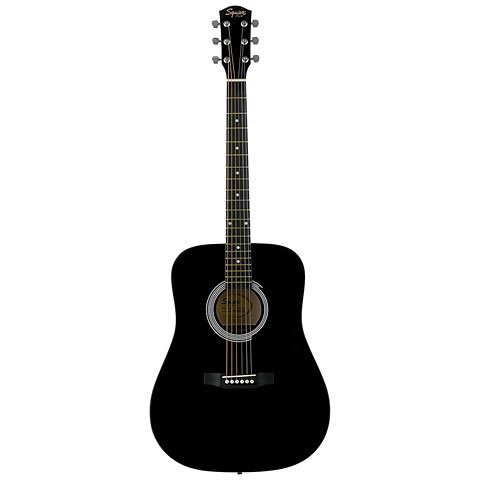 squier-by-fender-by-fender-sa-105-black-guitare-acoustique-folk
