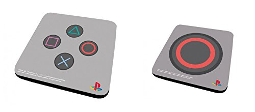 Set Di 2 Sottobicchieri: Playstation - Controller + Circle (9x9 cm)