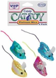 Vo-Toys Platinum Mice 4 pack Cat Toy
