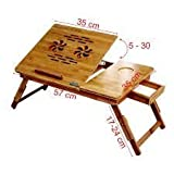 Storia Laptop Table Bed Tray Foldable, Wooden and Ventilated For Study / Reading