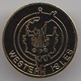 Western Isles Outer Hebrides Scotland Pin Badge